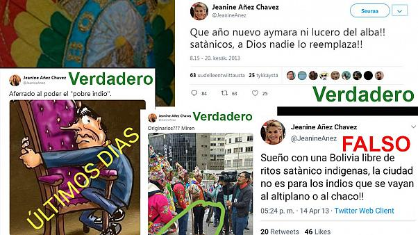 Bolivia: ¿Son verdaderos los tuits insultantes con los indígenas de Jeanine Áñez?