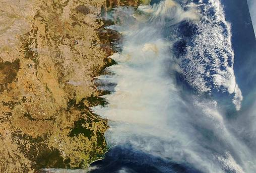In pictures: Australia's 'unprecedented' wildfires seen from space