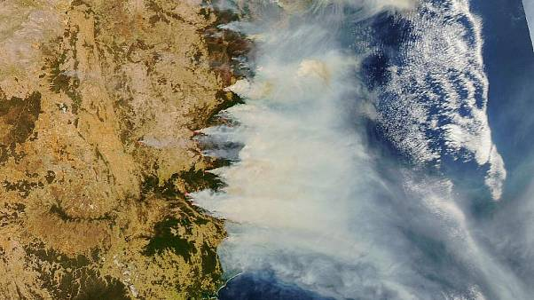 Image result for australia wildfire from space