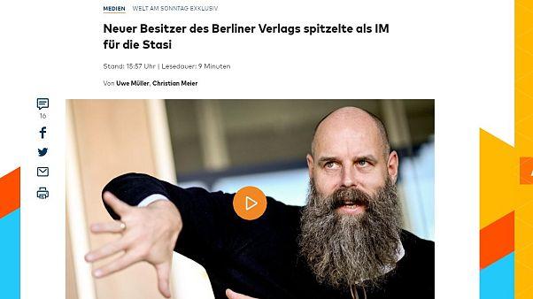 Aufschrei nach WamS-Scoop: Berliner-Zeitung-Besitzer war bei Stasi