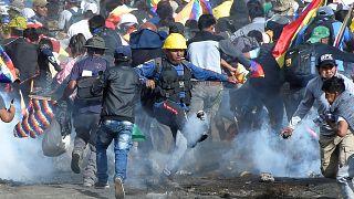 Die Cocaleros und die Polizei leisten sich gewaltvolle Gefechte
