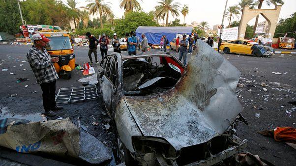 Взрыв в Багдаде в разгар протестов