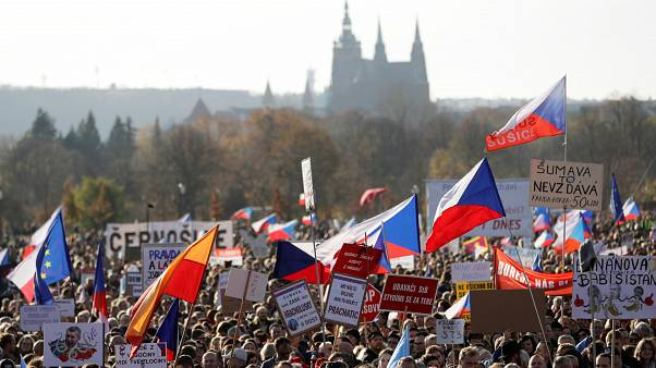 The Prague protest has been organized on social media