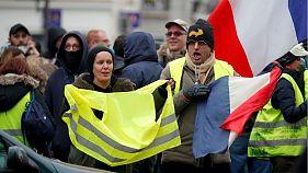 Disturbios en las calles de París en el aniversario de los 'chalecos amarillos'