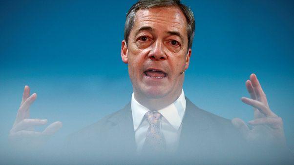 Brexit Party leader Nigel Farage in Ilford, Britain, November 13, 2019.