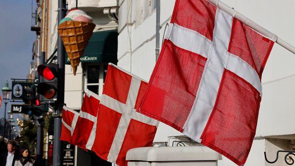 العلم الدنماركي في كوبنهاغن