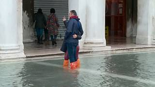 Venice flooded by third record-setting high tide in one week
