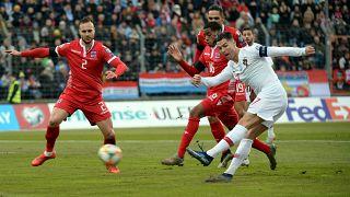 Cristiano Ronaldo marcou o segundo golo de Portugal no Luxemburgo