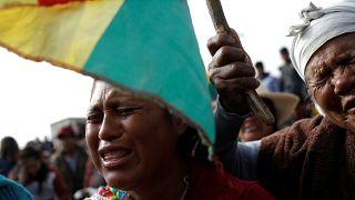 Funerais de apoiantes de Evo Morales