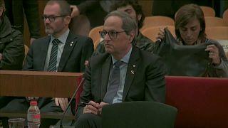 El presidente de la Generalitat, Quim Torra, ante la justicia por desobediencia