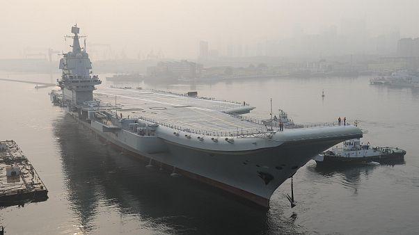 Çin, ilk yerli savaş gemisini Tayvan boğazına gönderdi