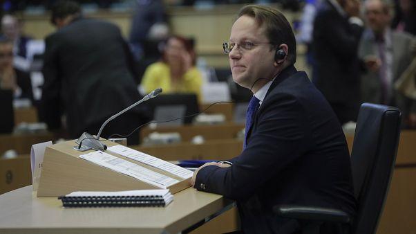 Várhelyi Olivér a szakbizottsági meghallgatásán 2019- november 14-én