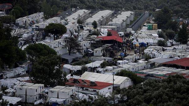 Völlig überbelastet: Das Flüchtlingslager Moria auf Lesbos