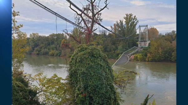 Il crollo del ponte sul fiume Tarn vicino Tolosa forse dovuto a un camion troppo pesante