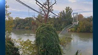Leszakadt egy híd Toulouse mellett