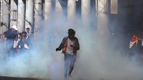 متظاهرون يغلقون مدخل ميناء أم قصر العراقي