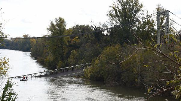 Mirepoix'de köprünün çökmesi üzerine bir kişi öldü