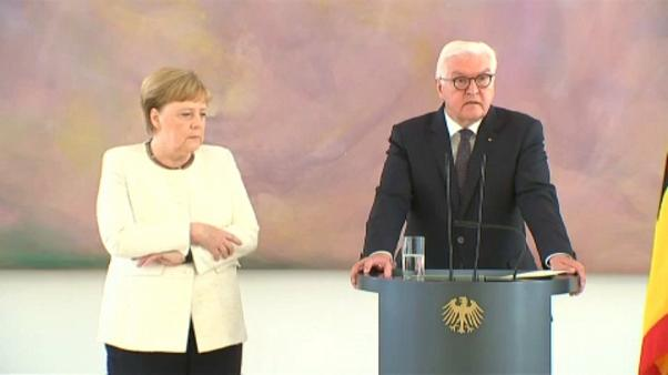German Chancellor Angela Merkel seen shaking for second time this month
