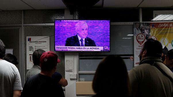 """Piñera reconoce """"uso excesivo de la fuerza"""" en Chile por primera vez y promete Justicia"""