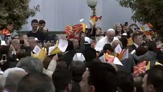 Pope Francis continues Balkan tour with a visit to North Macedonia