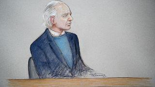 Zeichnung von Anhörung vor Londoner Gericht im Oktober