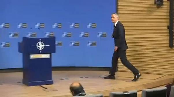 A tense meeting for NATO after 'brain death' comments