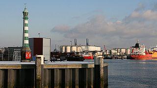 The Dutch port of Vlaardingen.