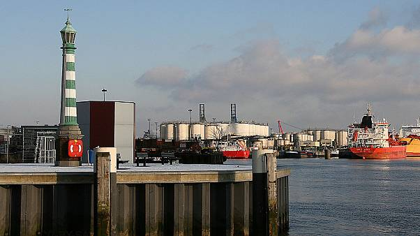 The Dutch port of Vlaardingen.