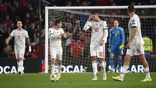 A magyar labdarúgó-válogatott 2-0-ra kikapott Walestől, így nem jutott ki egyenes ágon az Eb-re