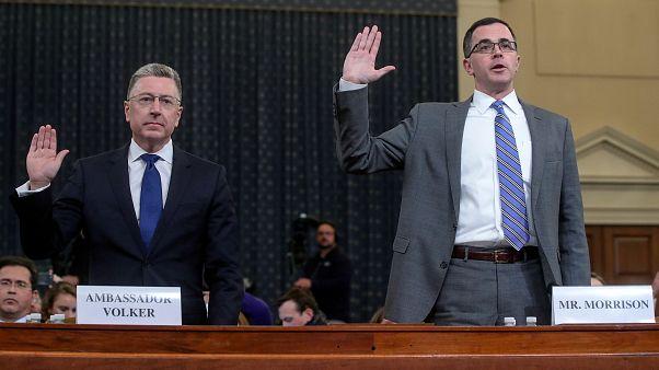 شاهدان أمام الكونغرس: ما ورد في مكالمة ترامب مع رئيس أوكرانيا أثار قلقنا
