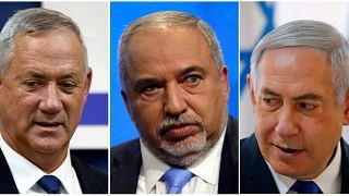 Benny Gantz, Avigdor Lieberman, Binyamin Netanyahu