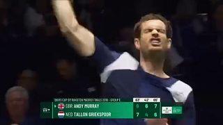 Davis Kupa-döntő: Murray nehezen, Djokovics simán nyert