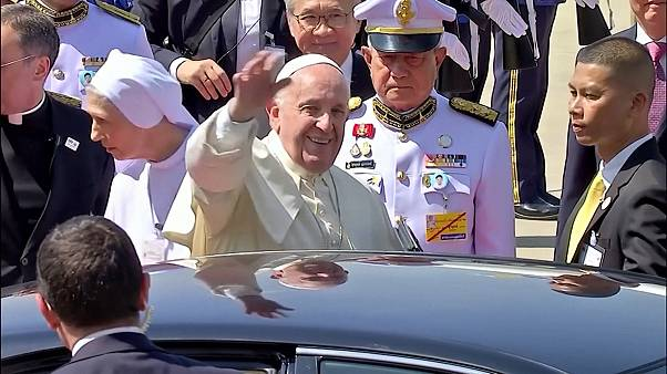 Pope Francis arrives in Thailand at start of Asia trip