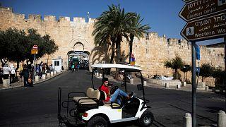 صورة بالقرب من الحائط الغربي في المدينة القديمة بالقدس