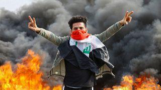 Bağdat'ta hükümet karşıtı gösterilerde iki kişi öldü 38 kişi yaralandı