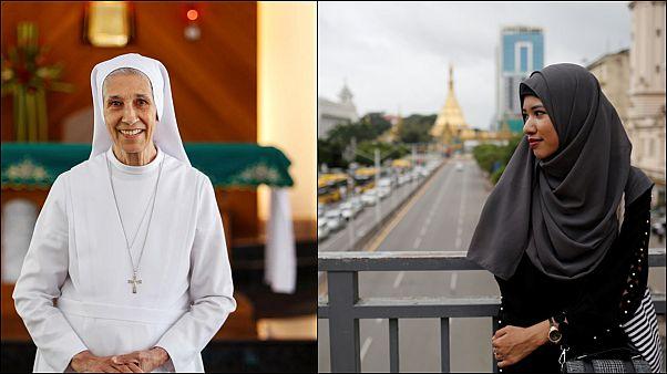 Fransa'da başörtüsü tartışması: Rahibe ile Müslüman kadının başörtülerinin amaçları farklı