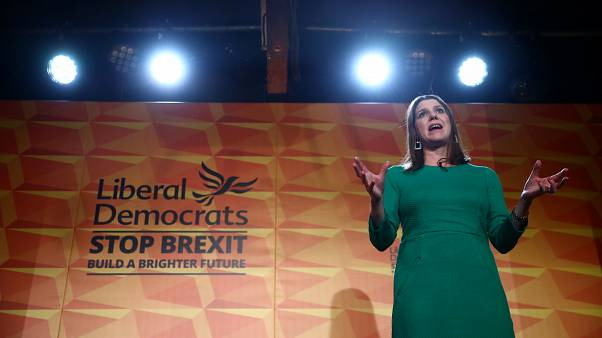 Britain's Liberal Democrat leader Jo Swinson speaks at the launch of the party manifesto in London, November 20, 2019
