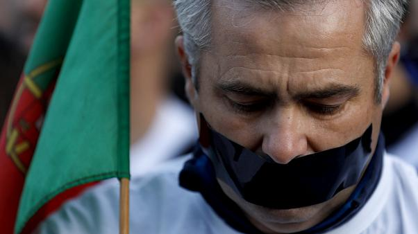 La policía portuguesa sale a las calles para llevar a cabo su propia protesta