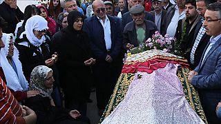 Güleda Cankel'in cenaze töreninden