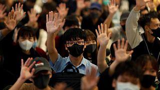 Manifestation antigouvernementale à Yuen Long, Hong Kong, le 21 novembre 2019