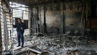 شاهد: الدمار الذي خلفته احتجاجات إيران بعد قرار السلطات زيادة أسعار البنزين