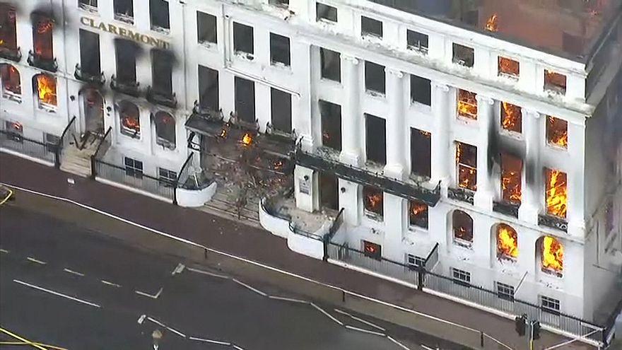 Massive fire destroys seaside hotel in Eastbourne