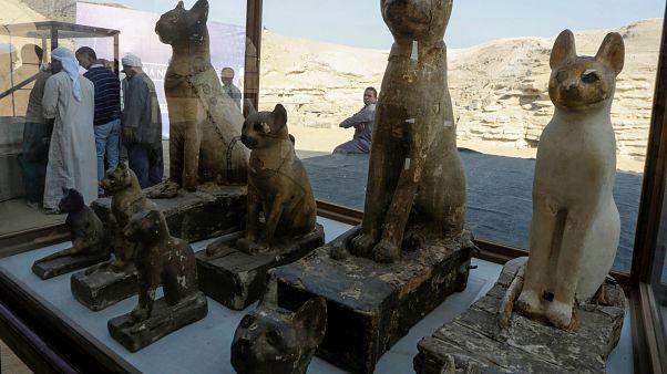من الآثار المكتشفة والتي عرضتها وزارة الآثار المصرية