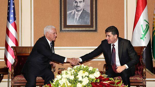 ABD Başkan Yardımcısı Pence ve IKBY Başkanı Barzani