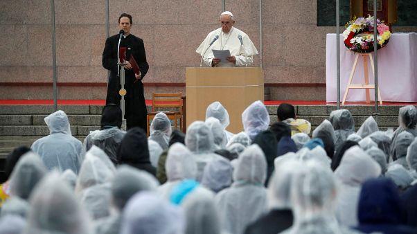 El papa Francisco hace un alegato contra las armas nucleares desde el púlpito en Nagasaki