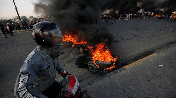 اعتراضهای امروز سه آذر در شهر بصره عراق