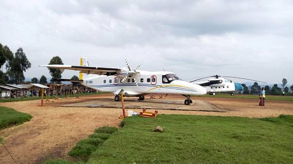 A Dornier 228-200 plane operated by local company Busy Bee A Dornier 228-200 plane operated by local company Busy Bee is seen at the Goma International airport.
