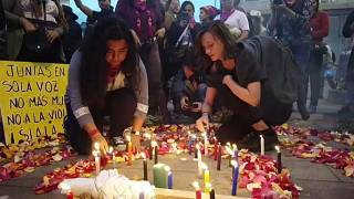 Marcha contra el machismo y los feminicidios en Ecuador
