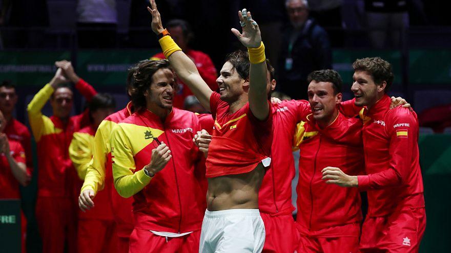 España gana su sexta Copa Davis con la victoria de Nadal y Bautista contra Canadá
