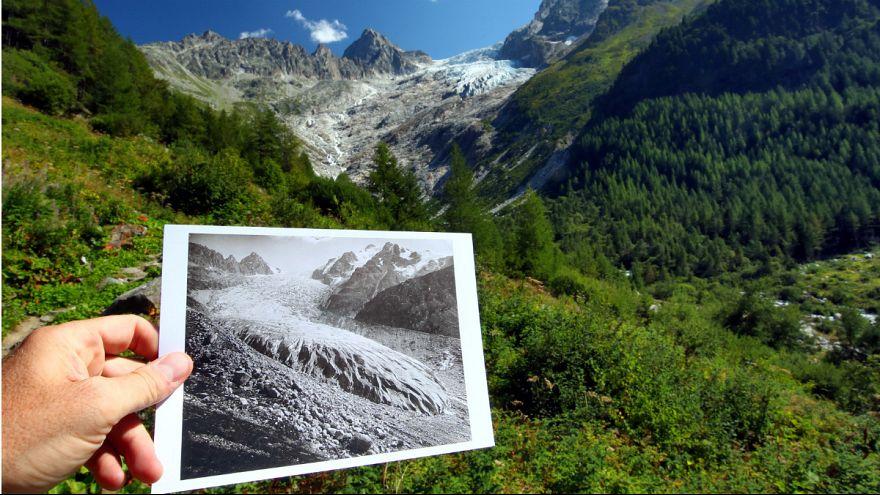 انتشار تصاویر تکاندهنده از ذوب یخچالهای طبیعی سوئیس
